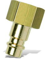 "CONNECTOR BRASS 1/4""F"
