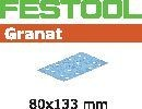 FESTOOL abrasive 50 pack, P80 grit - 80 x 133 mm