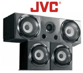 JVC Centre & Surround Speakers 80W X 3 (SCS-2010/A)